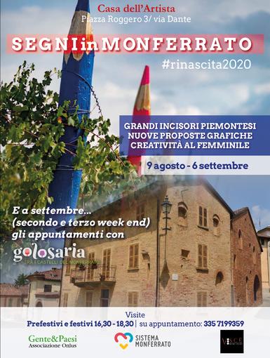 Segni in Monferrato... e mascherine anti Covid d'artista