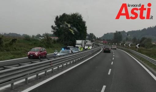 Incidente sulla A33. Tamponamento all'altezza di San Marzanotto. Un ferito