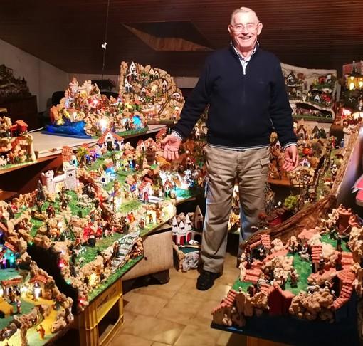 L'uomo dei presepi vive in frazione Villata di Valfenera