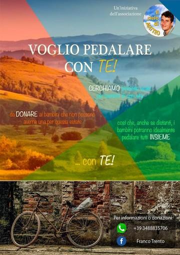 """Locandina iniziativa """"Voglio pedalare con te"""""""