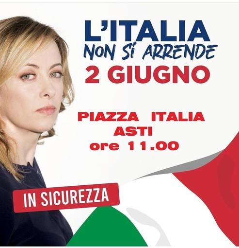 Anche Fratelli d'Italia scenderà in piazza per un 2 giugno di protesta