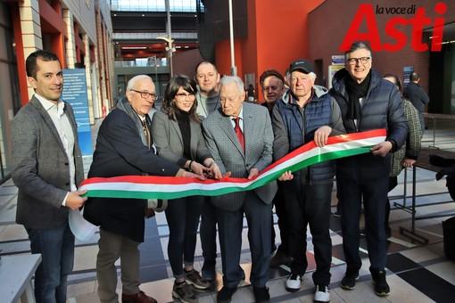 Il padrino Bruno Prosdocimi con l'assessore Pietragalla, Marco Gabusi, Andrea Morando, Stacchini e Sacco (vicino al fratello Mario) Ph MerfePhoto