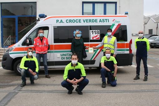 La Smurtfit Kappa di Asti ha donato 9mila euro alla Croce Verde cittadina