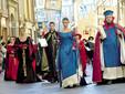 Il corteo storico che, la domenica paliofla, precede la corsa