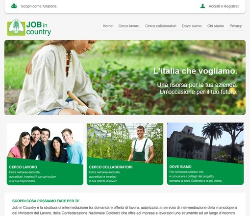 Coldiretti offre un nuovo supporto per chi cerca o offre lavoro in agricoltura