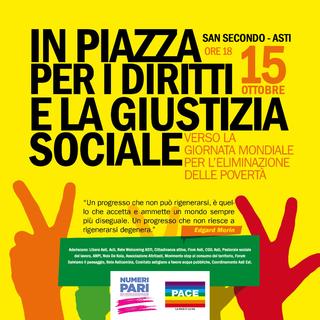 La locandina dell'iniziativa in favore di diritti e della giustizia sociale