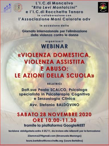 """L'Associazione Mani Colorate odv organizza il webinar """"Violenza domestica, violenza assistita e abuso: le azioni della scuola"""""""
