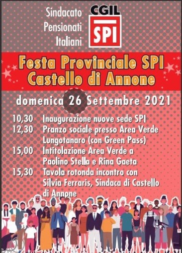 Locandina Festa provinciale SPI CGIL
