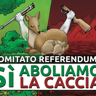 Il logo del comitato promotore del referendum contro la caccia