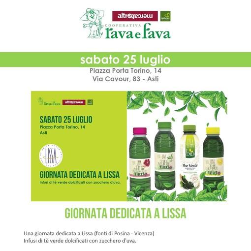 Giornata dedicata agli infusi di the verde bio da NaturaSì di piazza Torino