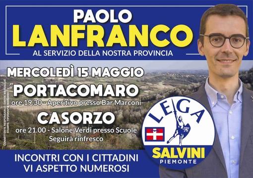 L'agenda elettorale di Paolo Lanfranco, candidato Consigliere regionale della Lega