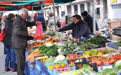 Foto d'archivio dell'attuale mercato