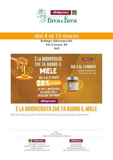 Alla Rava e Fava di Asti, la filiera del miele con lo sconto del 20%