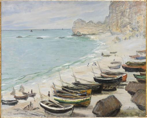 Claude Monet - Bateaux sur la plage à l'Etretat