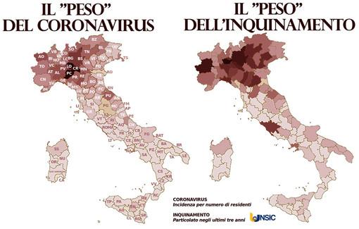 Inquinamento e Covid-19, potrebbe esserci un collegamento? Un'indagine dell'UNSIC, sindacato imprenditori e coltivatori, ne discute a livello nazionale