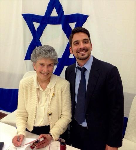 Candelaresi con la scrittrice israeliana Bat Ye'or