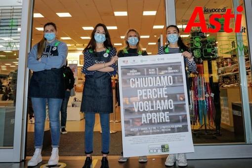 """Protesta centro commerciale """"Il Borgo"""""""