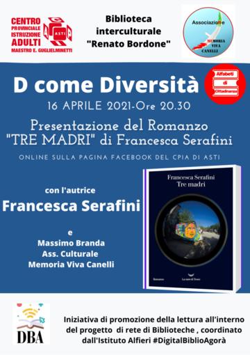 Locandina dell'incontro online con Francesca Serafini