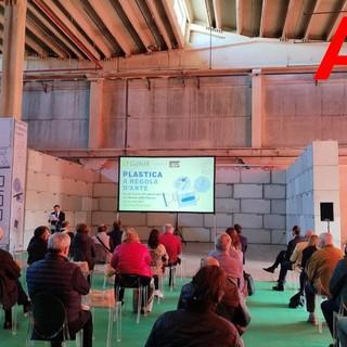 Un momento della presentazione dell'impianto, con intervento del presidente Luigi Visconti.