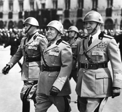 Il generale Badoglio con Benito Mussolini