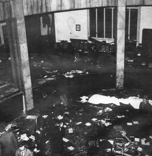 L'immagine, tratta da Wikipedia, documenta la devastazione post esplosione del potente ordigno