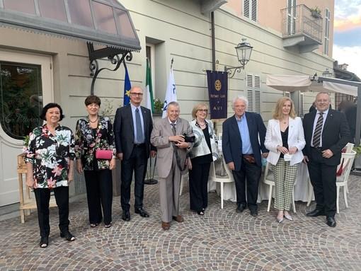 Il gruppo dei premiati con i Past Governor Ines Guatelli, Gino Montalcini, Beppe Artuffo ed il Presidente Marco Stobbione
