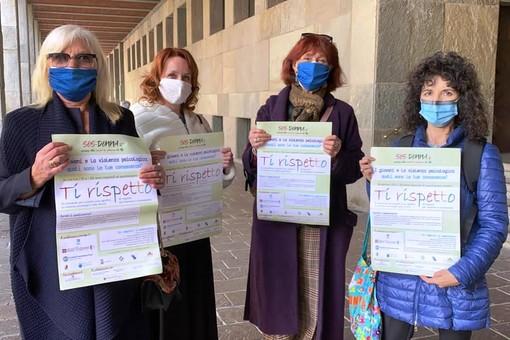 Da sinistra Giovanna Cristina Gado, Gloria Fasano, Maria Bagnadentro (Soroptimist) e Laura Nosenzo (SOS donna)