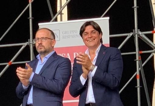 Il sindaco Rasero e l'assessore allo Sport Mario Bovino
