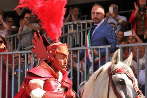 Il capitano del Palio e il sindaco Rasero