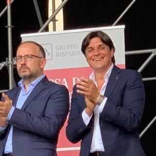 Maurizio Rasero (sindaco di Asti) e Mario Bovino (assessore comunale allo Sport)