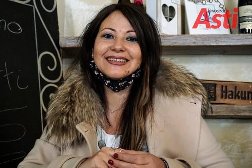 Roberta Furnari, durante l'intervista