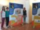 Il direttore dell'Archivio di Stato di Asti, Michela Gatti, l'artista Elena Pianta e Isabella Sorgon (LiberaCoordinamento provinciale di Asti).