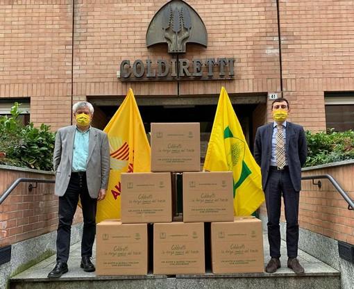 Coldiretti consegna strenne della solidarietà alle famiglie bisognose con prodotti Made in Italy