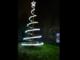Oggi a Moasca è stato acceso l'albero di Natale. Una spirale in acciaio alta quattro metri (VIDEO)
