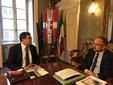 Il sindaco Rasero ritratto con il garante Bruno Mellano