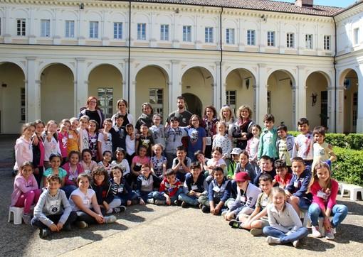 Foto di gruppo dopo la visita al museo