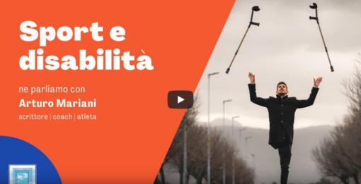 L'astigiano Samuele Bosco ha intervistato Arturo Mariani sul tema sport e disabilità  (VIDEO)