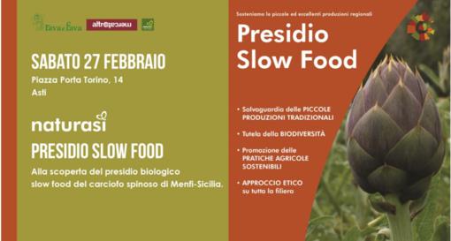 Sabato al Naturasì di Asti spazio al carciofo spinoso di Menfi e ai presidi Slow Food