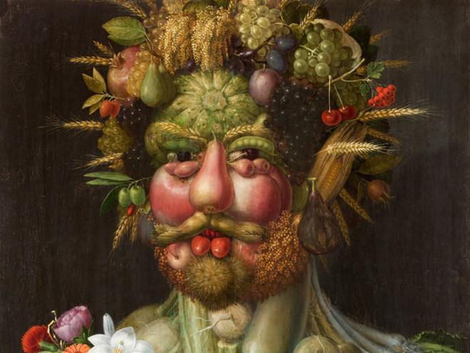 Uno dei ritratti allegorici di Giuseppe Arcimboldo