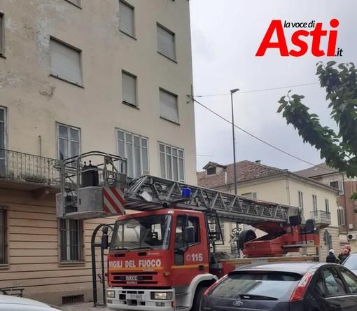 Intervento dei vigili del fuoco alla ex Clinica San Secondo