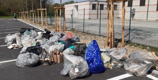 I rifiuti raccolti questa mattina