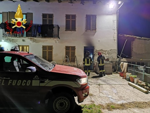 Buttigliera: prende fuoco scantinato di una casa. Intervengono i Vigili del Fuoco
