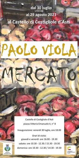 La locandina della mostra di Paolo Viola