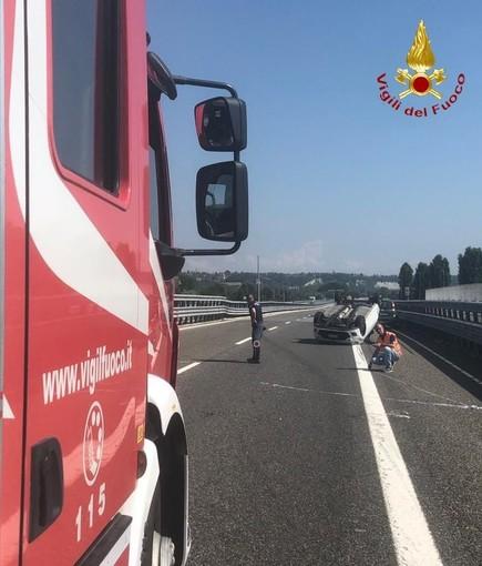 Ulteriori disagi sull'Asti-Cuneo per un tamponamento tra due autovetture