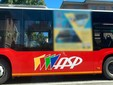 Un bus vuoto in altra fascia oraria