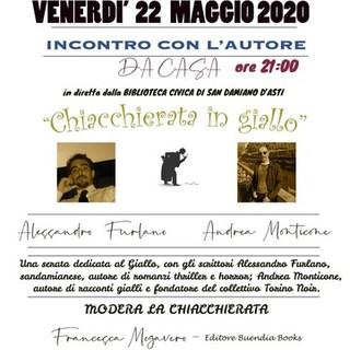 """La Biblioteca di San Damiano organizza l'incontro online """"Chiacchierata in giallo"""""""