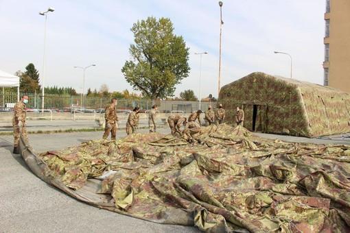Verranno installate nei prossimi giorni ad Asti le tensostrutture dell'esercito