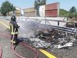 incendio in autostrada