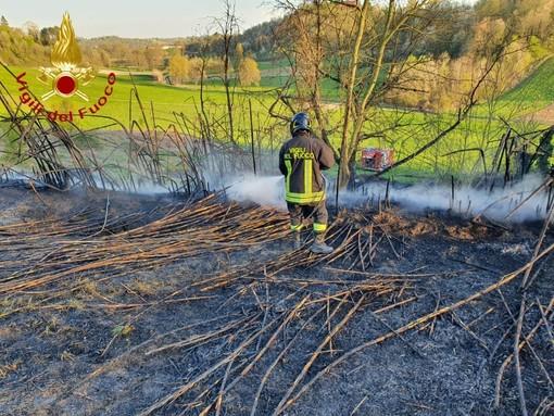 Intenso pomeriggio per i vigili del fuoco di Asti, tra incendi sterpaglie e alberi pericolanti