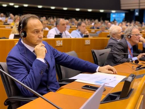 Alberto Cirio all'europarlamento